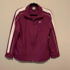 Women's purple Nike zip up athletic jacket